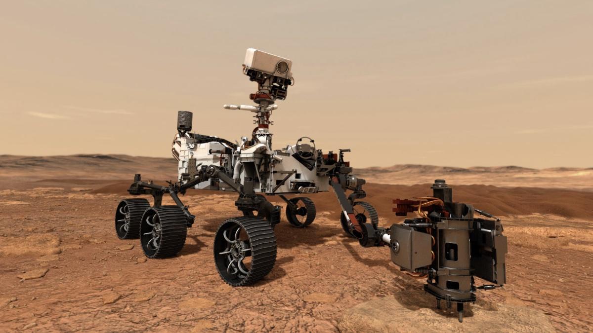 Марсианский ровер «Настойчивость» (Perseverance). Иллюстрация NASA