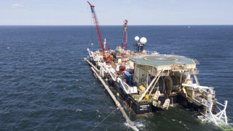 Северный поток 2 строительство подводной части