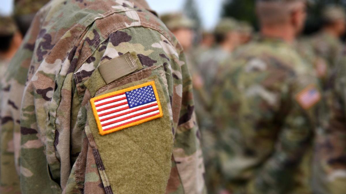 Солдаты США армия построение один