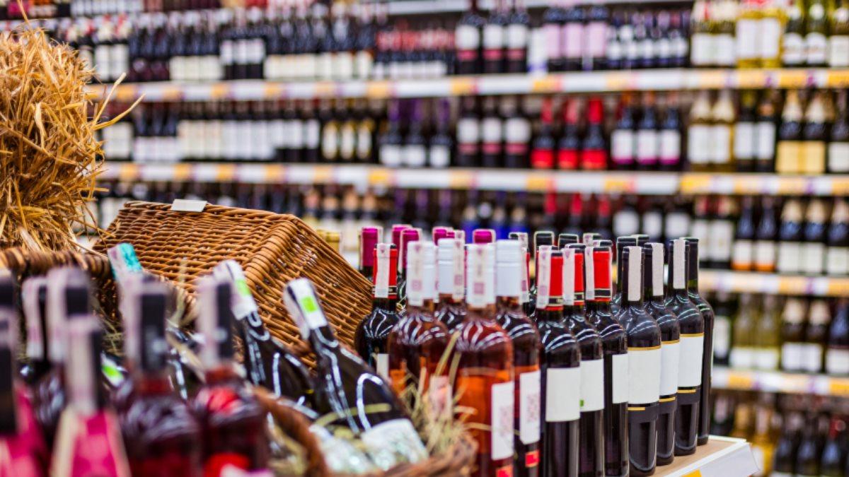 Алкоголь спиртное магазин супермаркет один