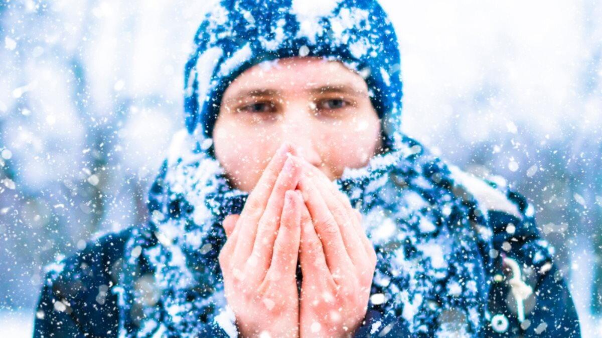 Погода зима снег холод мороз шапка