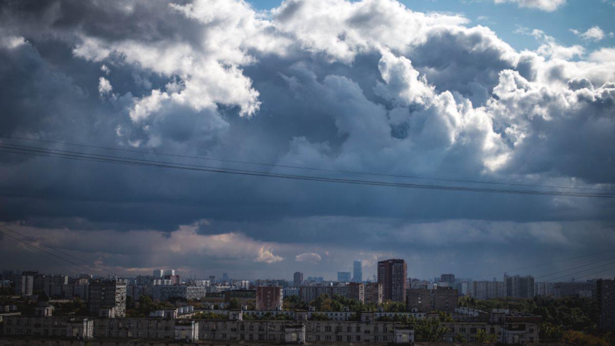 Москва погода гроза грозовой фронт