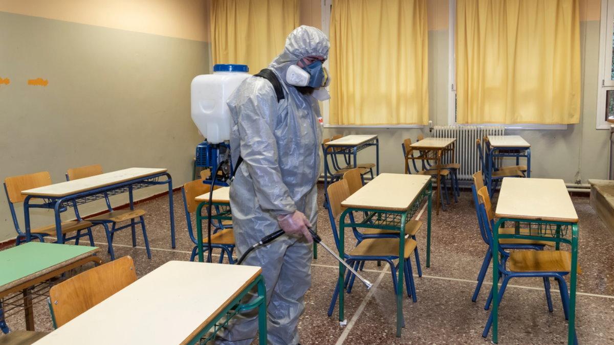 Школа коронавирус обработка
