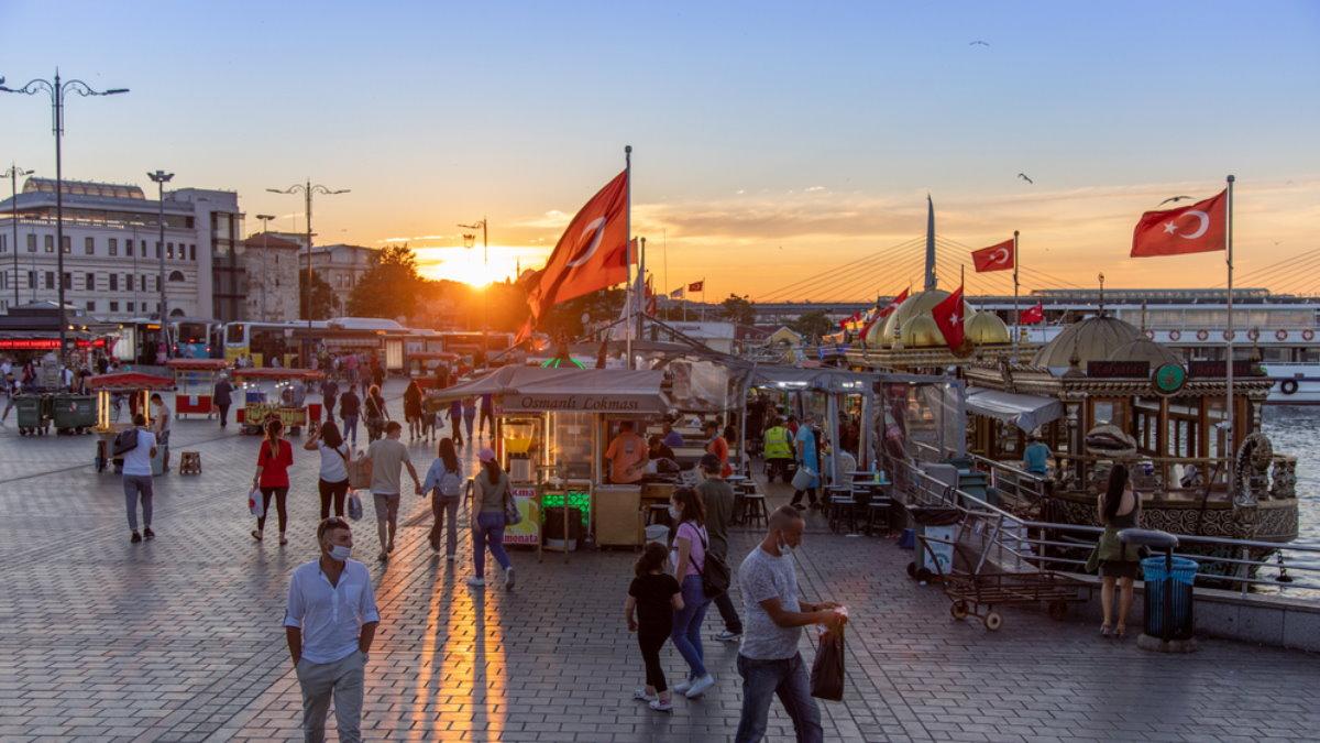 Турция Стамбул туризм коронавирус флаги