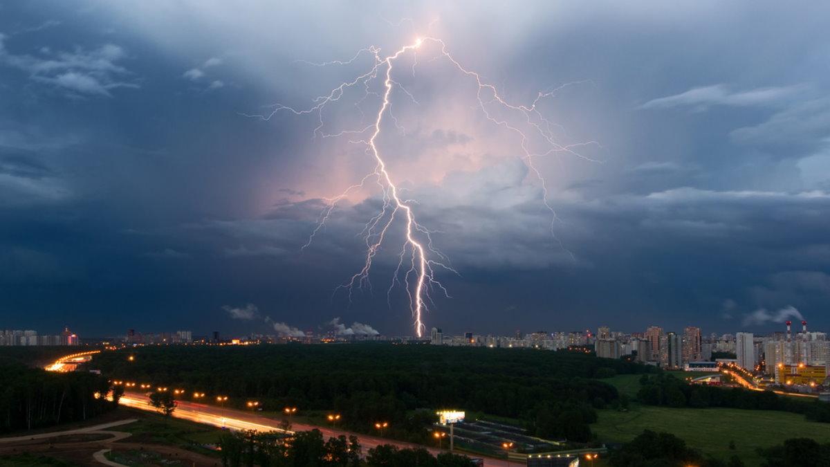 Погода молния гроза дождь Москва