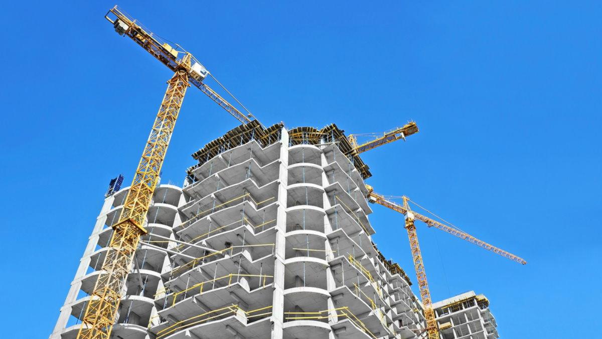 Строительство многоэтажного дома многоэтажка многоэтажный стройка