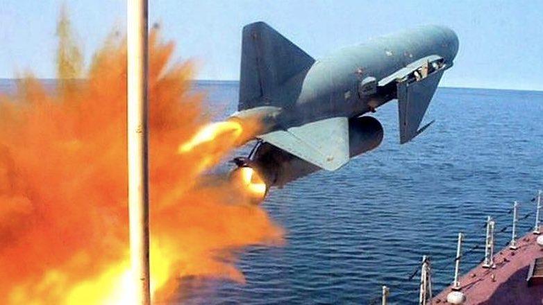 """Противокорабельная ракета """"Термит"""" (П-15), разработанная в середине 50-х годов XX века в МКБ «Радуга»"""