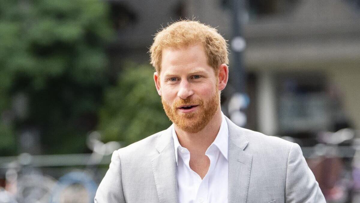 Принц Гарри серый костюм