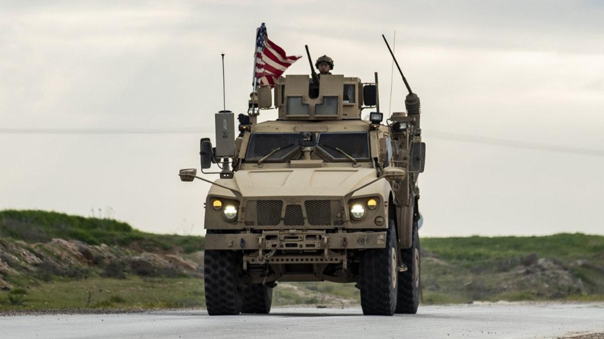 Военные США в Сирии военный конвой патруль