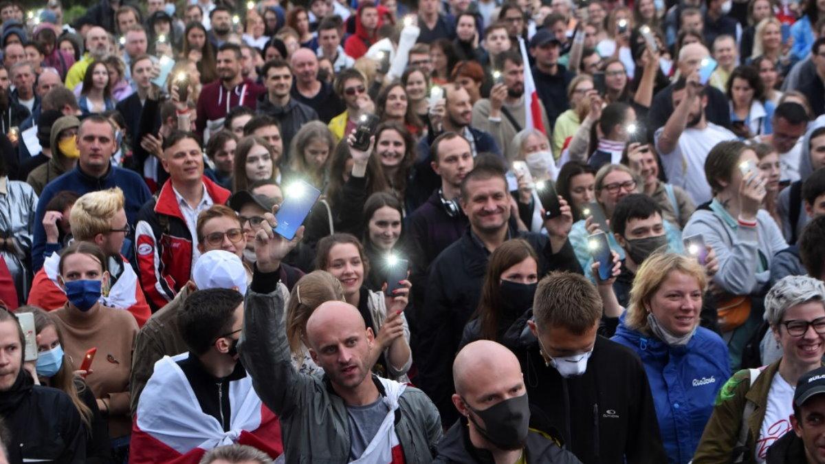 Минск Белоруссия Беларусь протесты митинг оппозиция