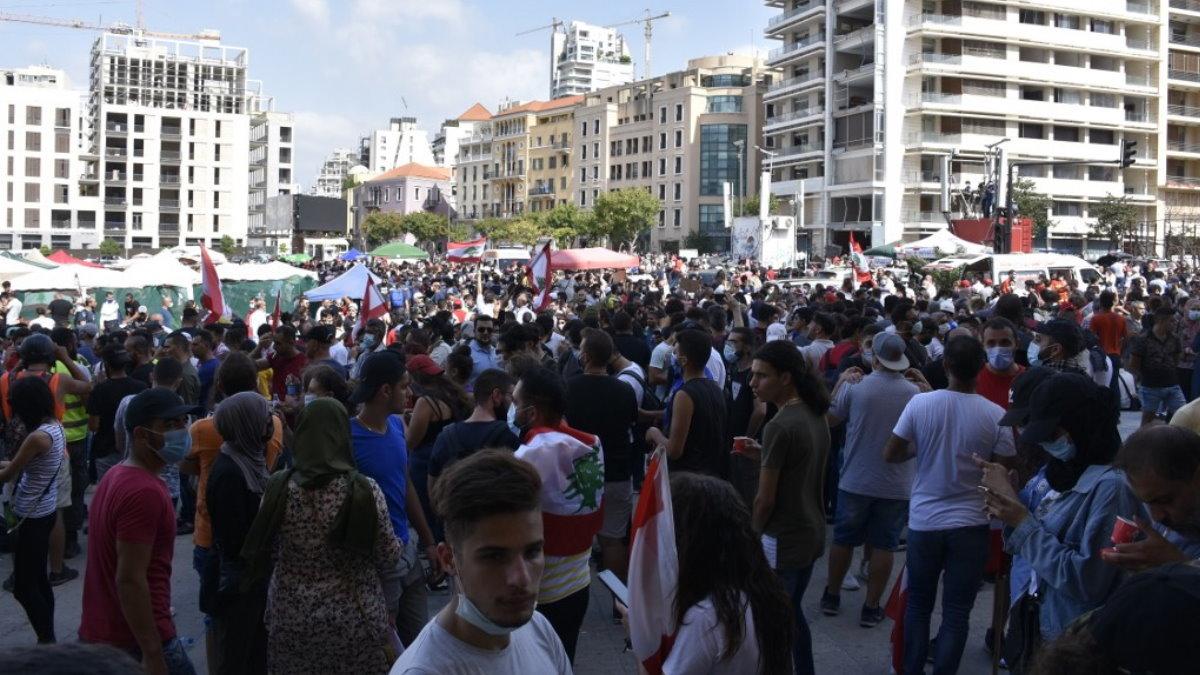 Бейрут Ливан протесты