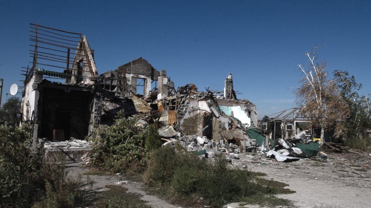Обстрел разрушения Донецк Донбасс Украина руины