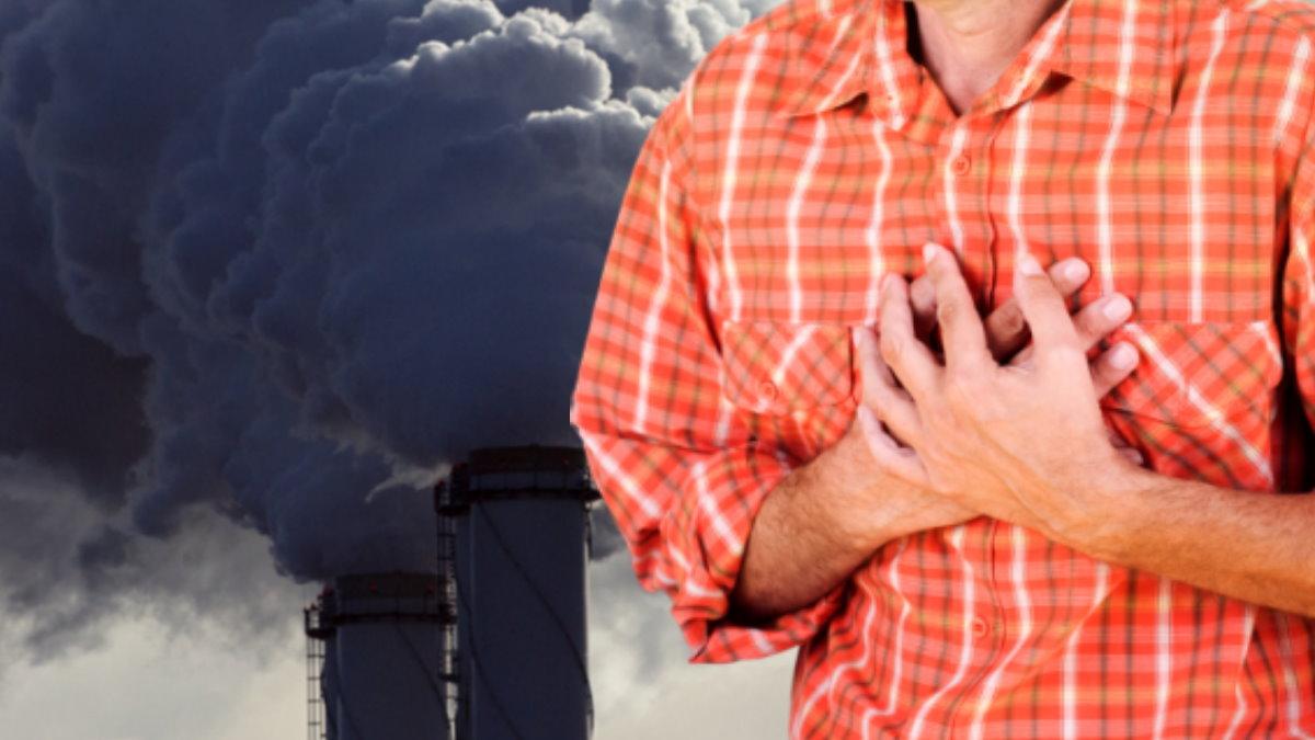 Загрязнение окружающей среды и Боль в груди сердце сердечный приступ