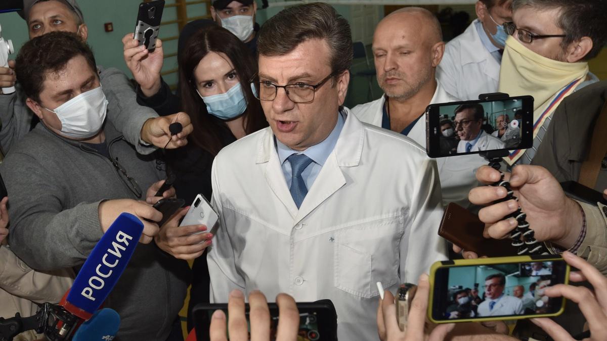Главный врач омской больницы скорой помощи №1 Александр Мураховский
