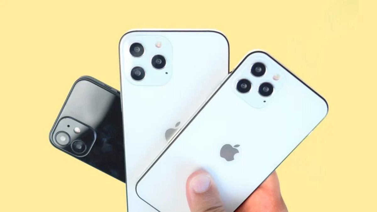 Apple iPhone 12 жёлтый фон