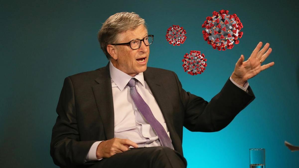 Билл Гейтс и коронавирус синий