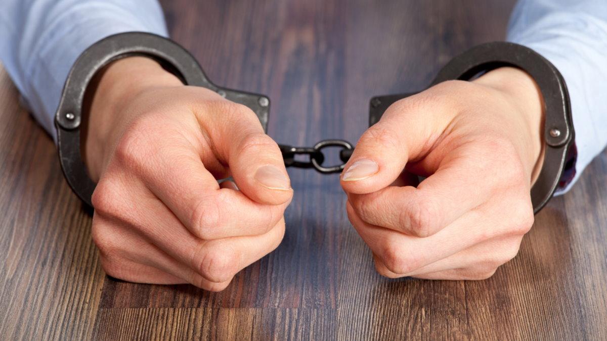 Наручники арест мужчина один