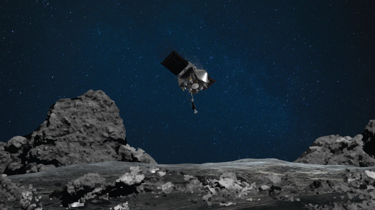 OSIRIS-REx НАСА соберет образец с астероида Бенну один