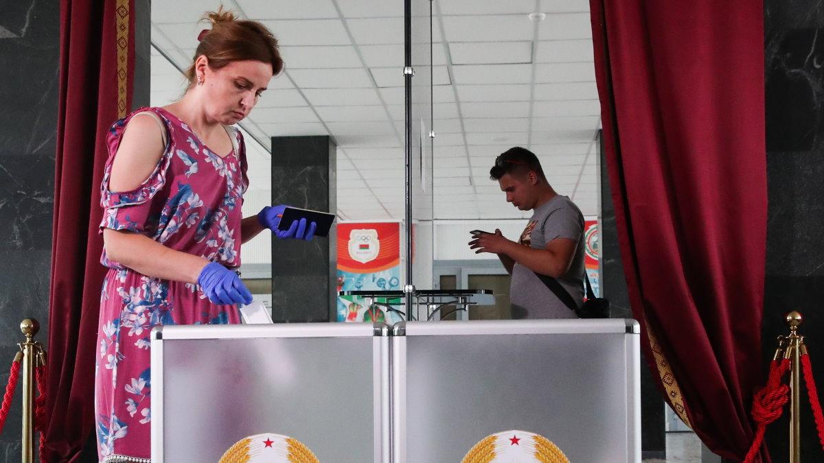 Выборы Беларусь Белоруссия бюллетень голосование два