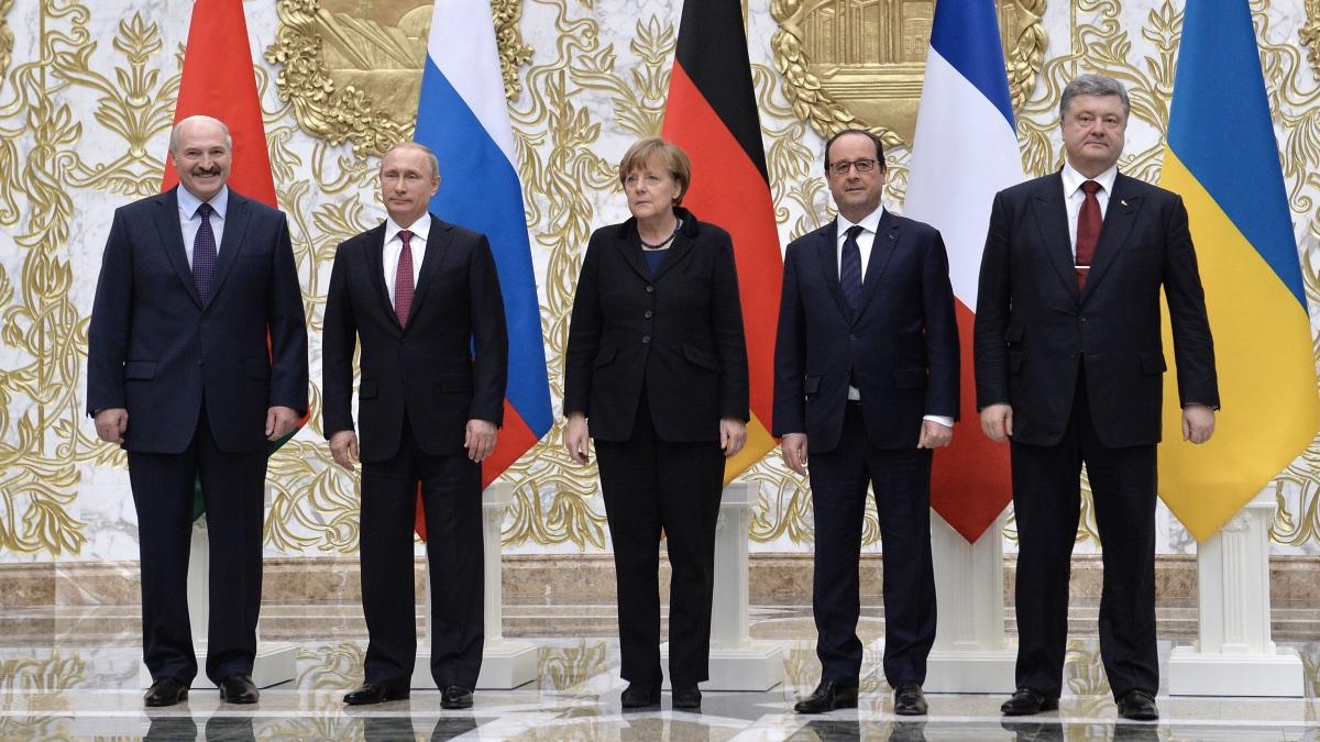 Встреча лидеров нормандской четверки в Минске, 11.02.2015