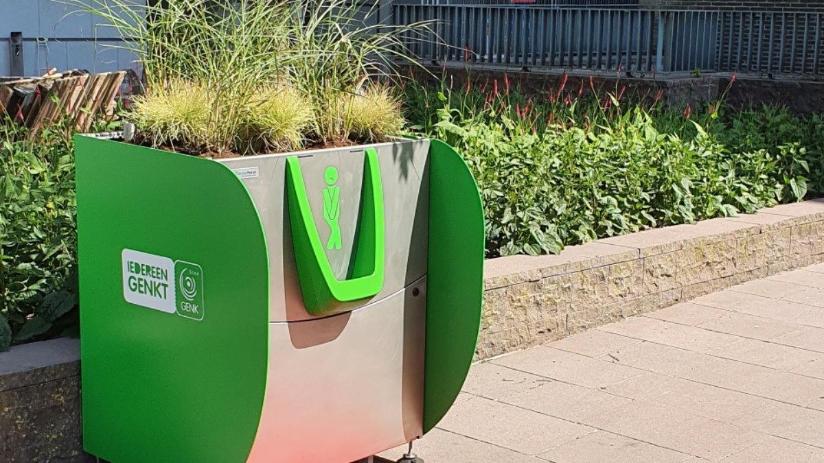Зелёный писсуар Амстердам