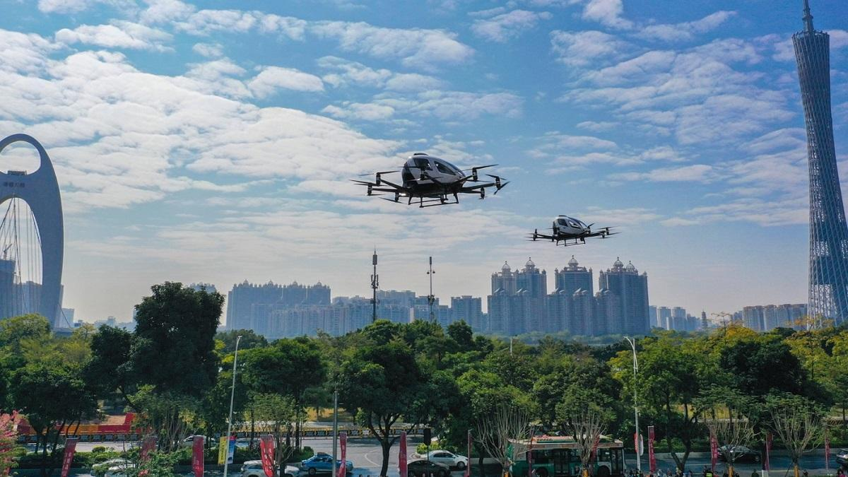 пассажирские дроны eHang Китай