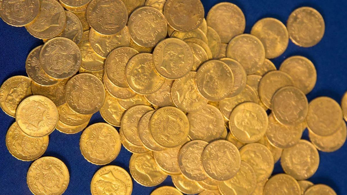 найден нацистский клад золотых монет