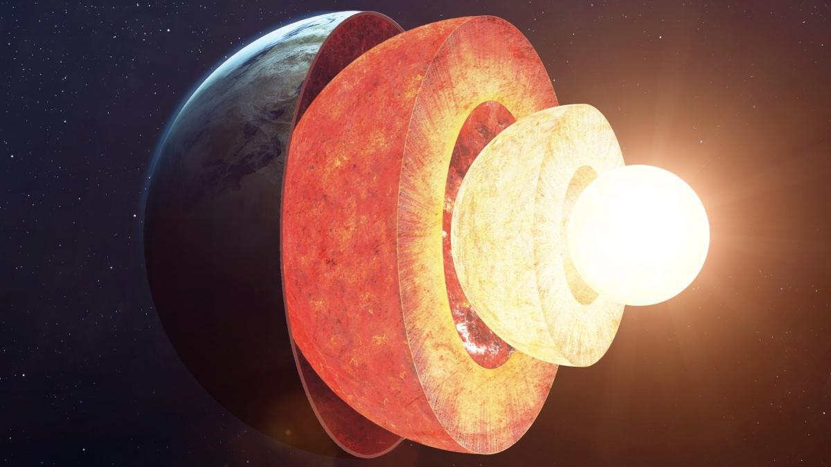 планета Земля ядро разрез один