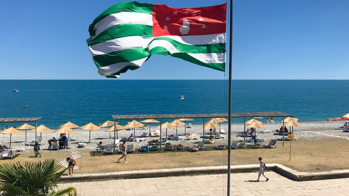 Абхазия туризм флаг пляж