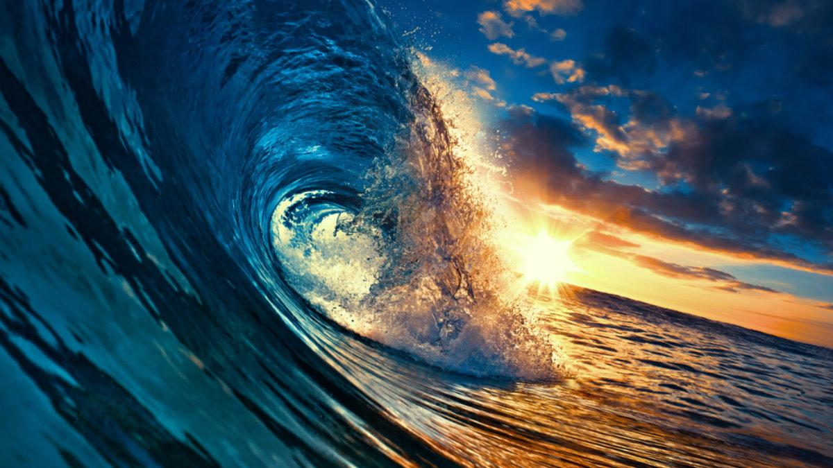 Океан волна вода солнце