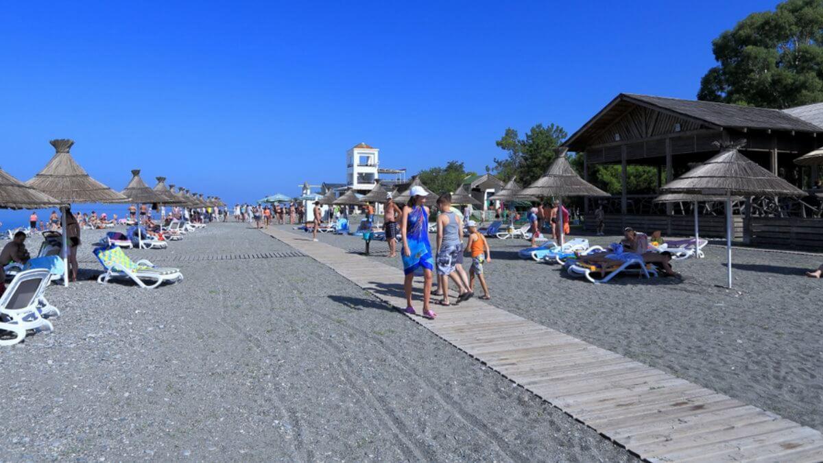 Пицунда Абхазия туризм пляж