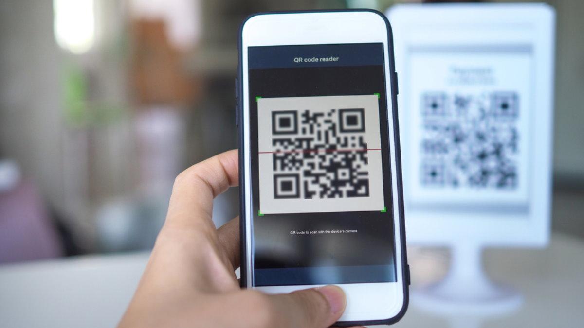 QR code код покупка оплата платёж сканирование два
