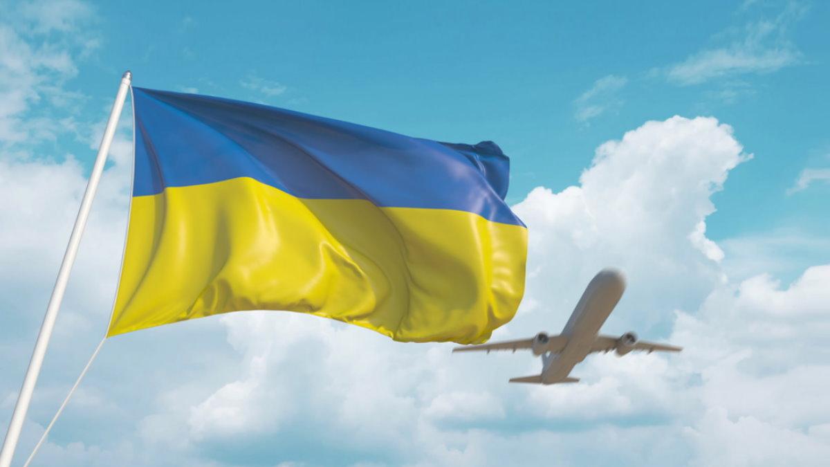 Украина флаг пассажирский самолёт авиасообщение