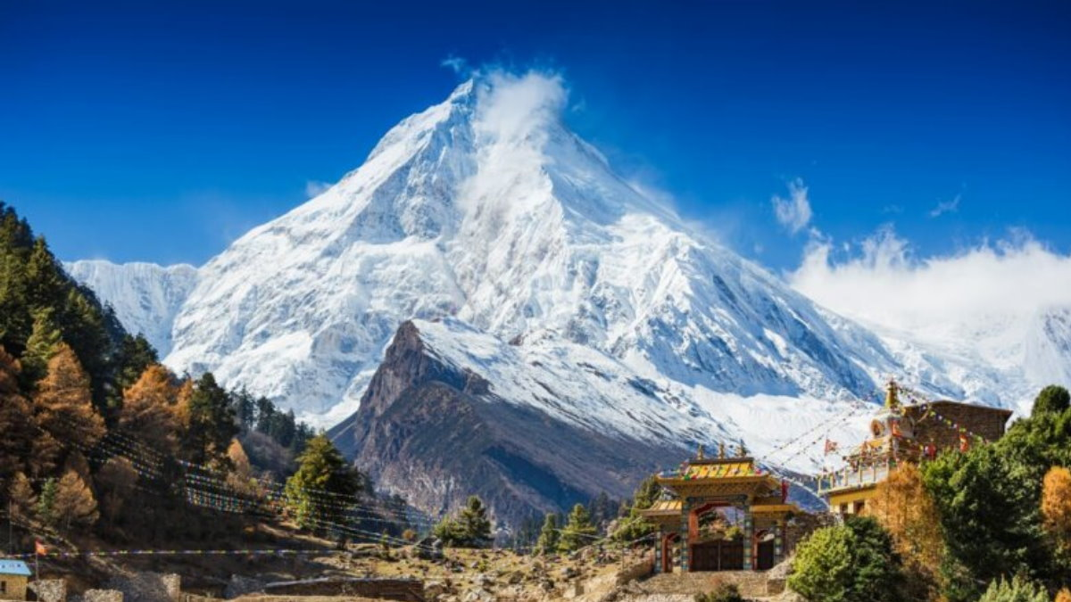 Гималаи Непал горы ледник