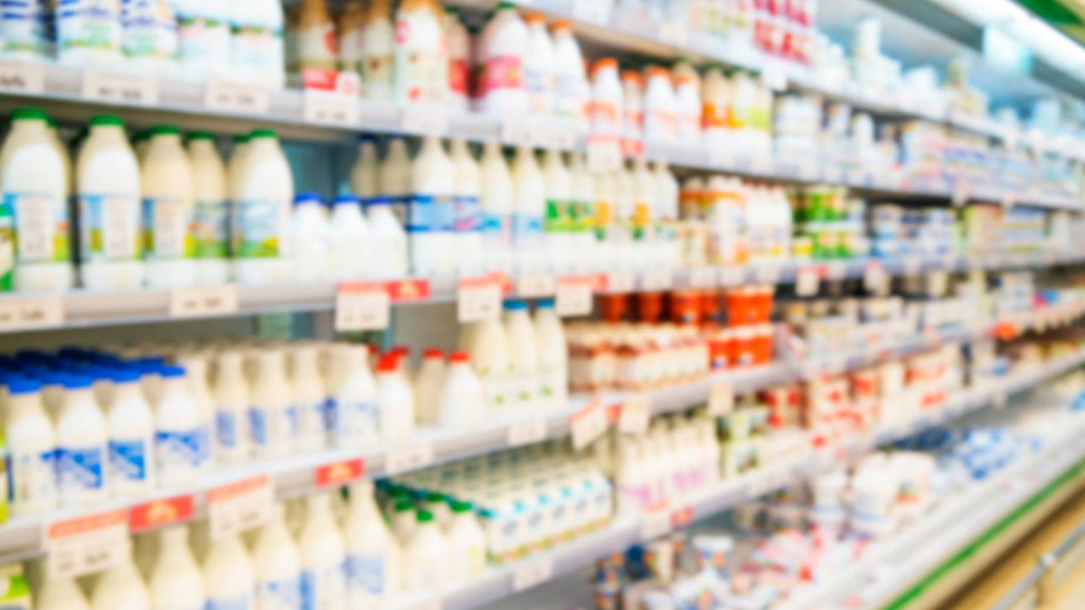 Молочная продукция молоко кефир магазин супермаркет один
