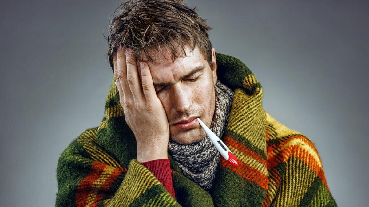 градусник термометр высокая температура болезнь простуда ГРИПП один