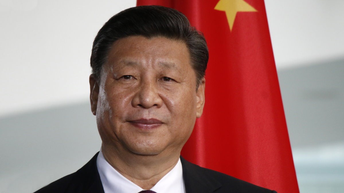 Си Цзиньпин генеральный секретарь ЦК Компартии Китая флаг