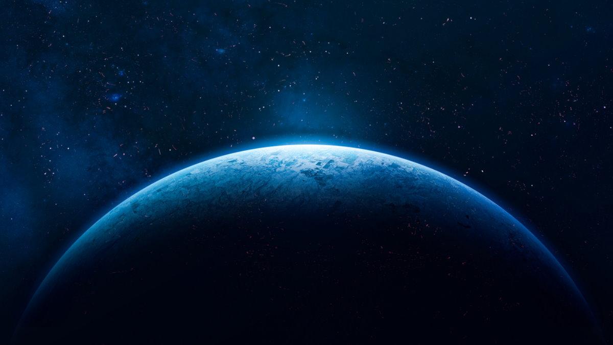 Голубая планета космос