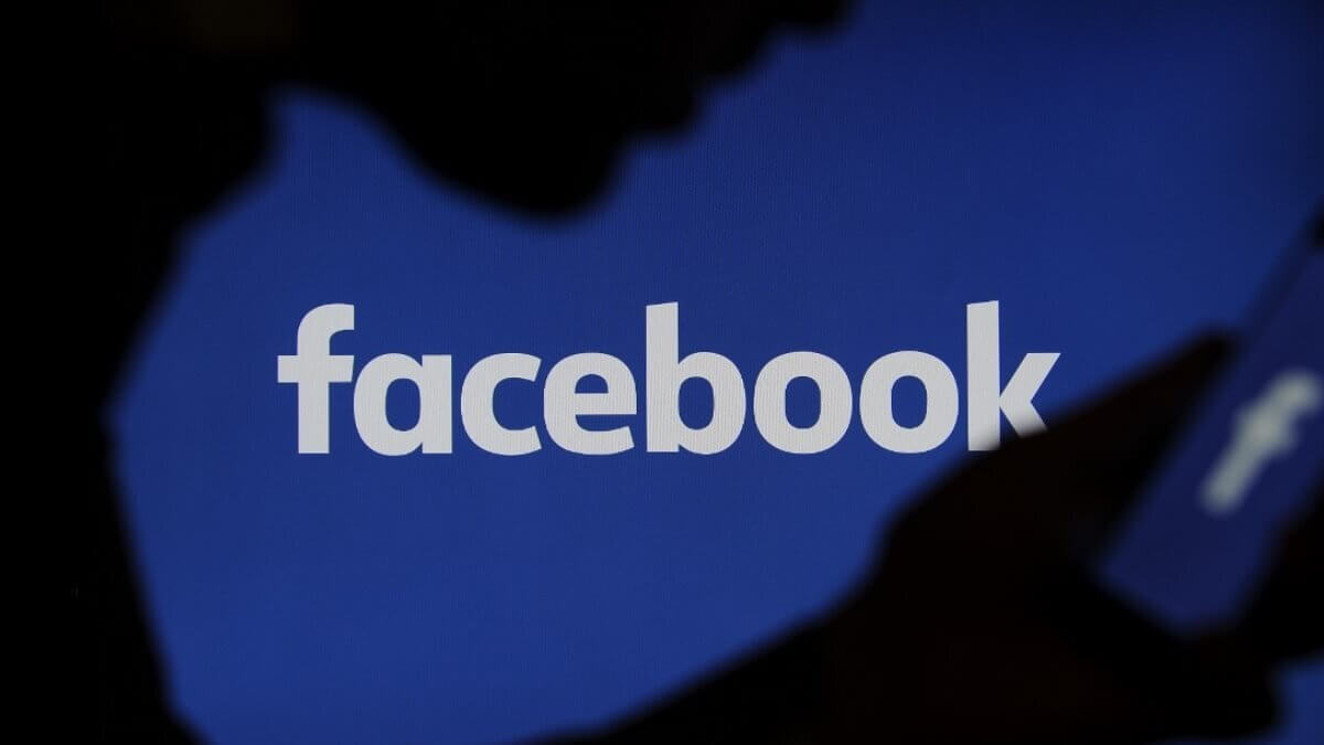 Facebook логотип силуэт