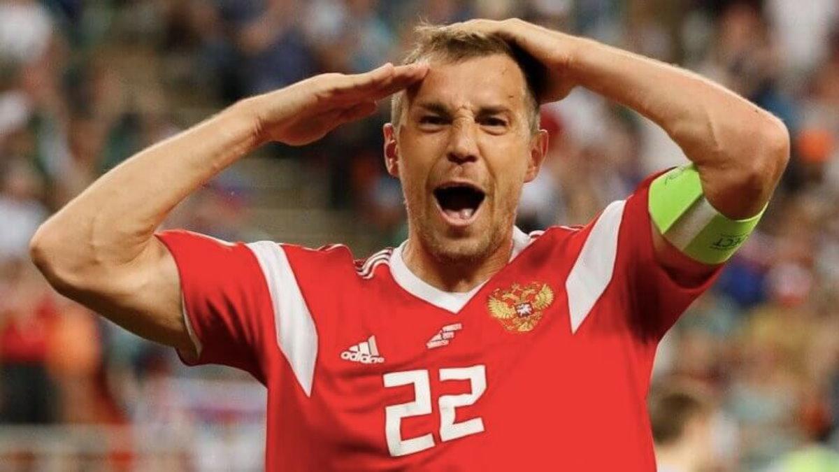 Футболист Артём Дзюба Сборная России по футболу
