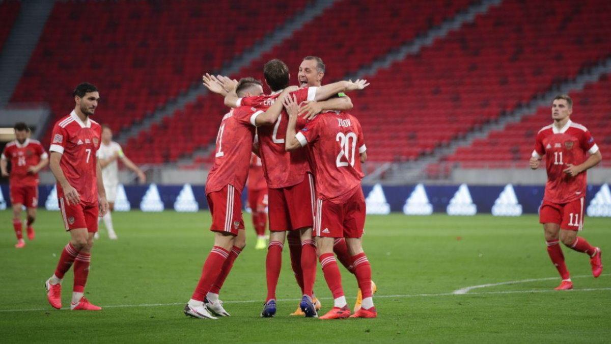 Сборная России победила команду Венгрии в матче Лиги Наций