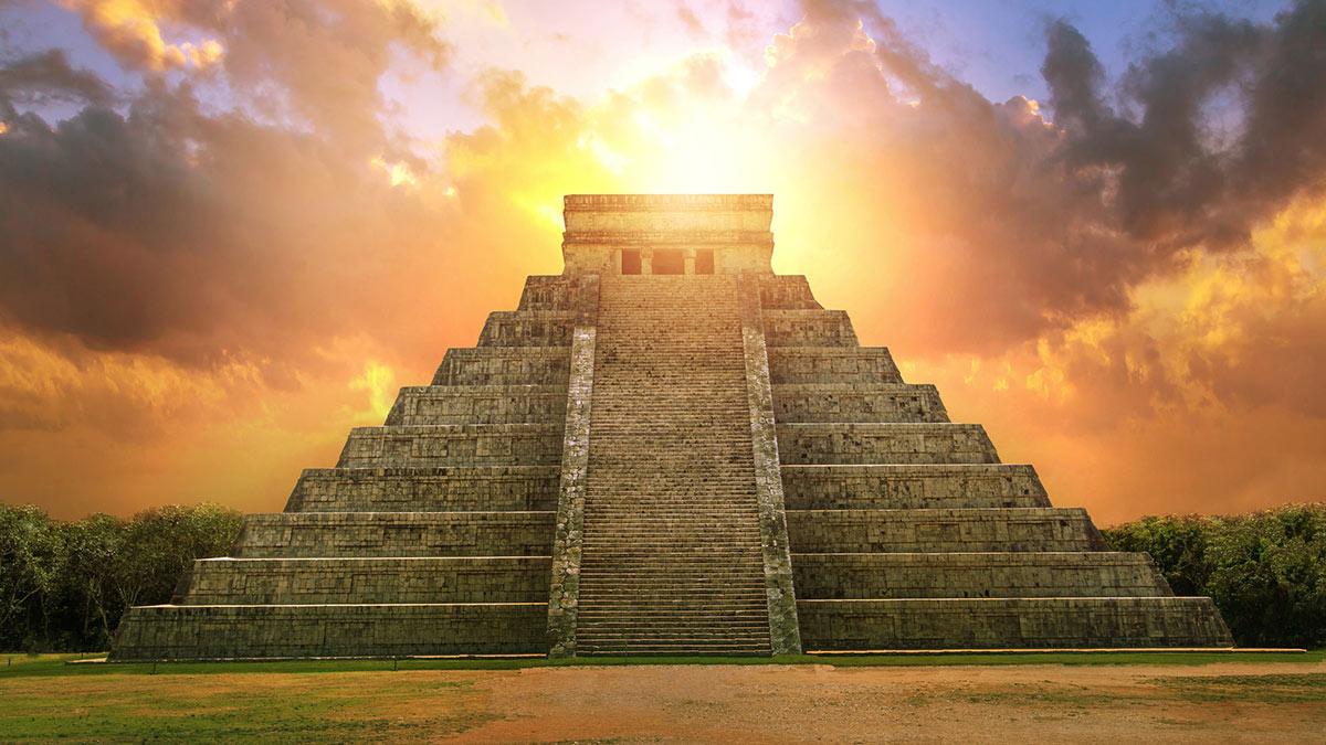 культурный центр майя на севере полуострова Юкатан в Мексике