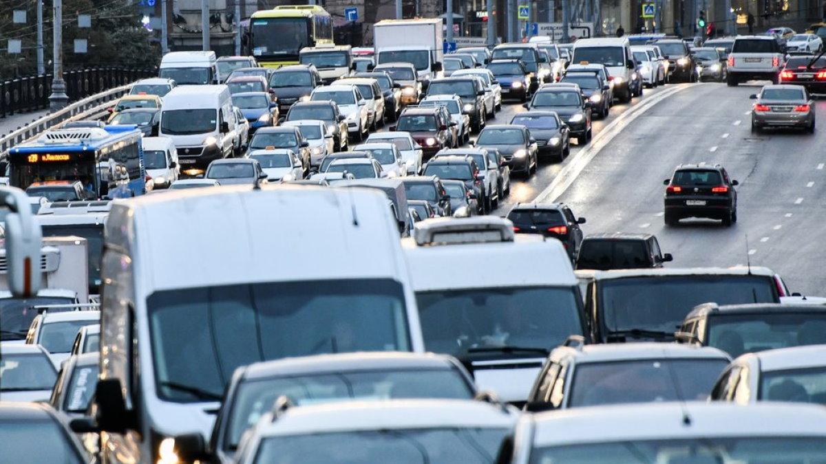 Москва Трафик машины автомобили пробки пробка два