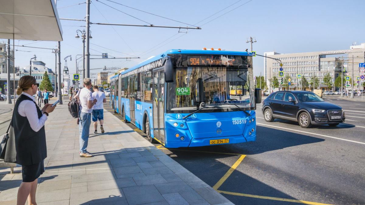 Москва автобус общественный транспорт остановка