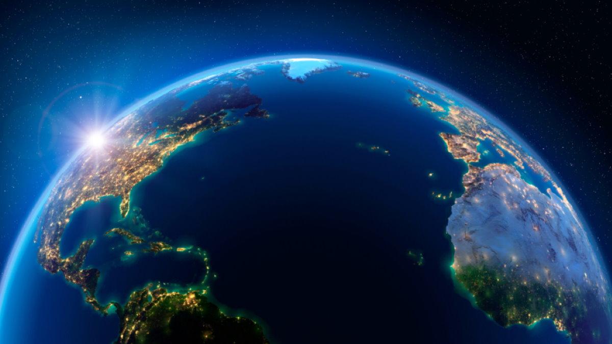 Планета Земля Атлантический океан