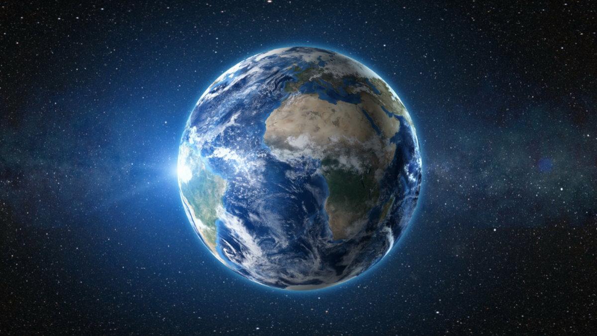 Вид на планету Земля с космоса