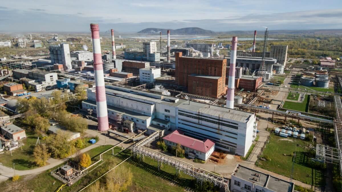 Вид на завод АО Башкирская содовая компания БСК