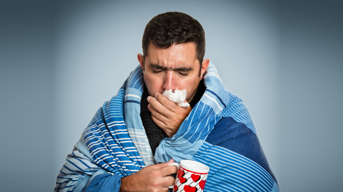 Простуда ГРИПП болезнь мужчина