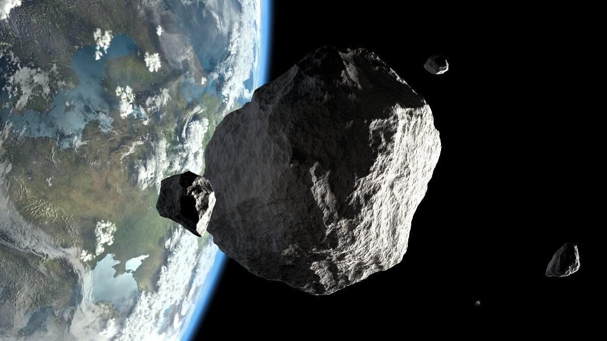 Планета Земля метеорит астероид два