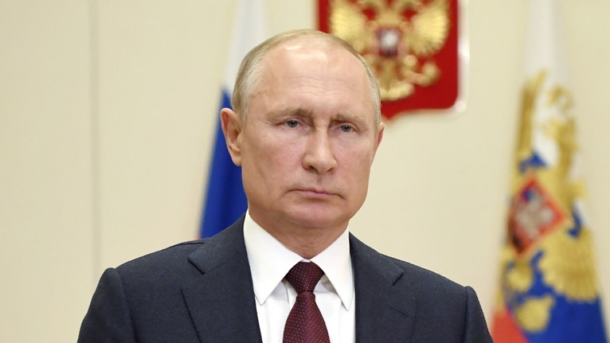 Владимир Путин хмурый серьёзный